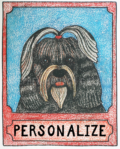 Shih Tzu - Customizable Crayon Giclee