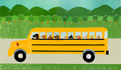 School Bus - Full Edition Print