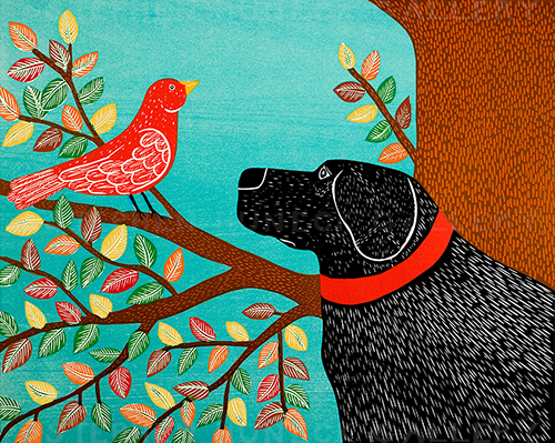 She Sings a Lovely Song-Autumn - Giclee Print