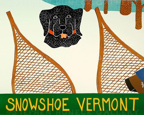Snowshoe-Vermont - Original Woodcut