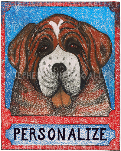 St. Bernard - Customizable Crayon Giclee
