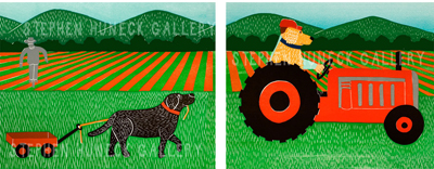 The Tractor - Diptych Giclee