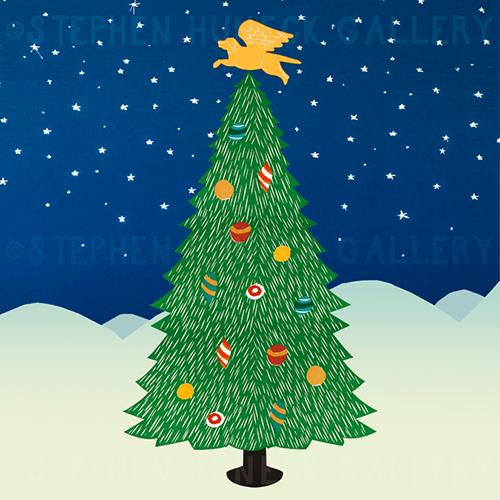 Angel Dog Tree - Giclee Print