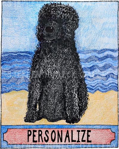 Water Dog - Customizable Crayon Giclee