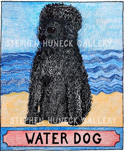 Water Dog - Crayon Giclee