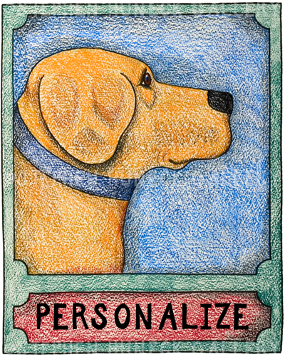 Yellow Lab - Customizable Crayon Giclee