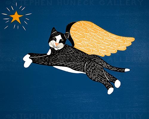 Angel Cat - Giclee Print