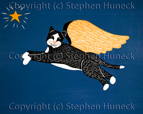 Angel Cat - Giclee