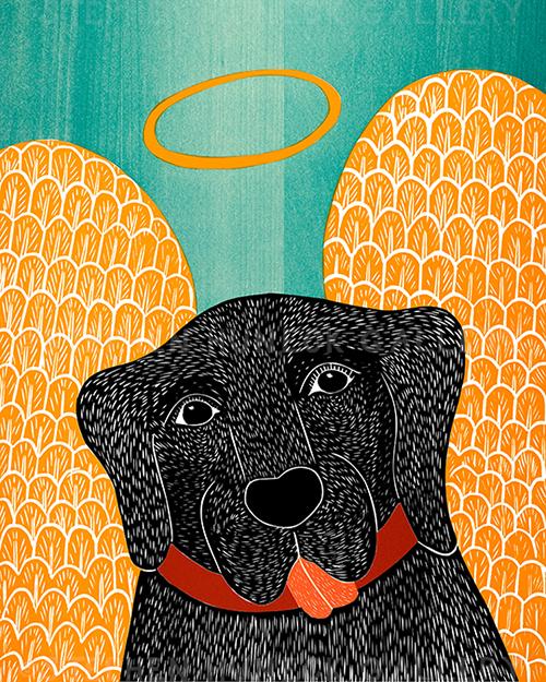 Angel Dog - Giclee Print