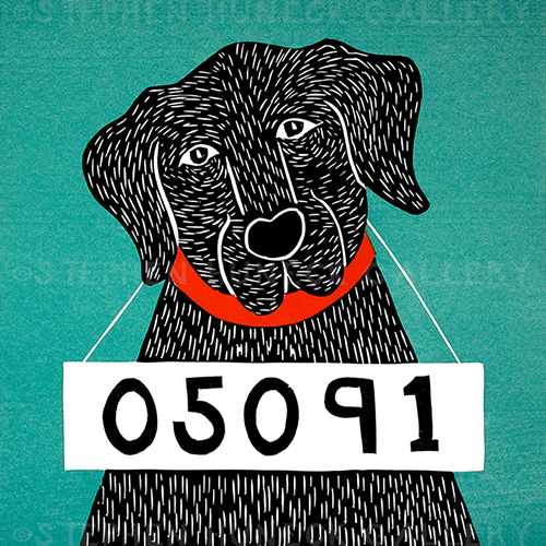 Bad Dog 05091 - Original Woodcut
