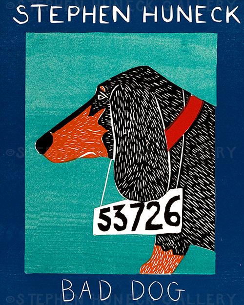 Bad Dog-Dachshund - Giclee Print