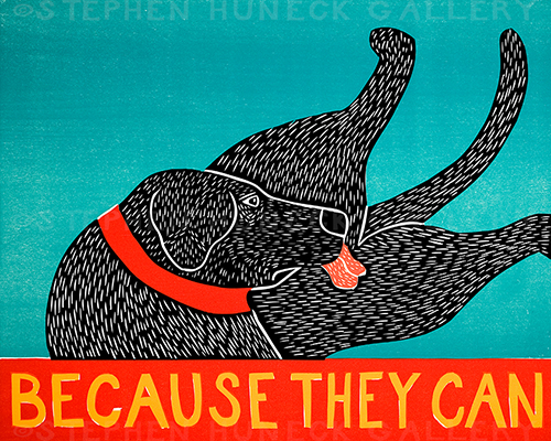 Because They Can - Original Woodcut