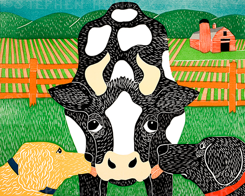 Bessie - Original Woodcut