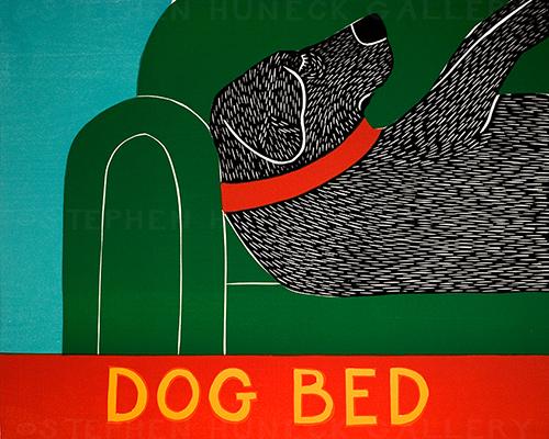 Dog Bed - Original Woodcut