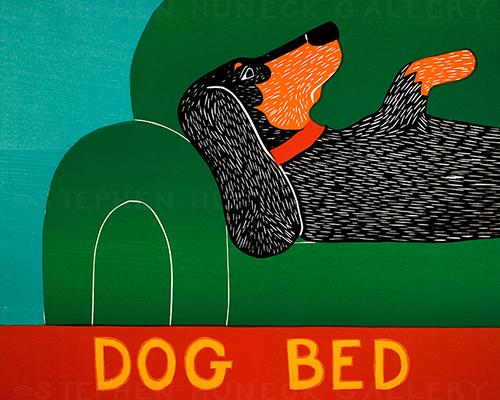 Dog Bed-Dachshund - Giclee Print