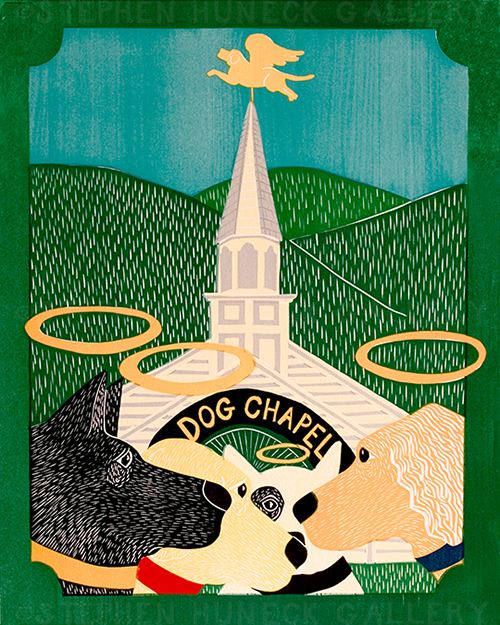 Dog Chapel II - Original Woodcut