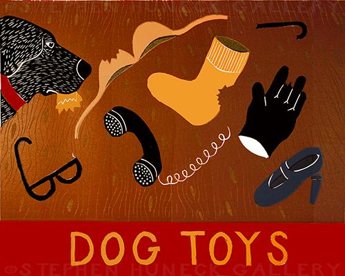 Dog Toys (Bad Dog) - Giclee Print