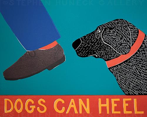Dogs Can Heel - Giclee Print
