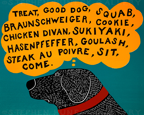 Dogs Can Only Learn a Few Words - Giclee Print