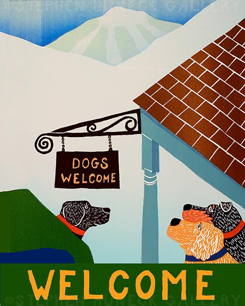 Dogs Welcome Inn - Giclee Print