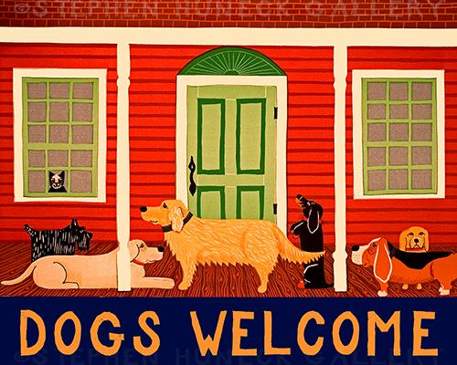 Dogs Welcome II - Giclee Print
