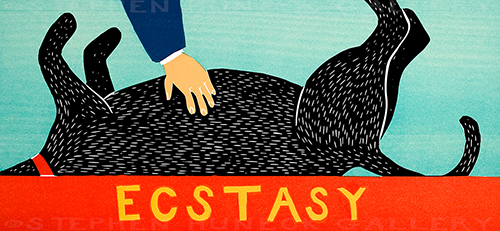 Ecstasy - Original Woodcut