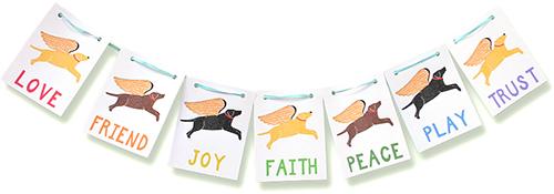 Flying Lab Paper Prayer Flags