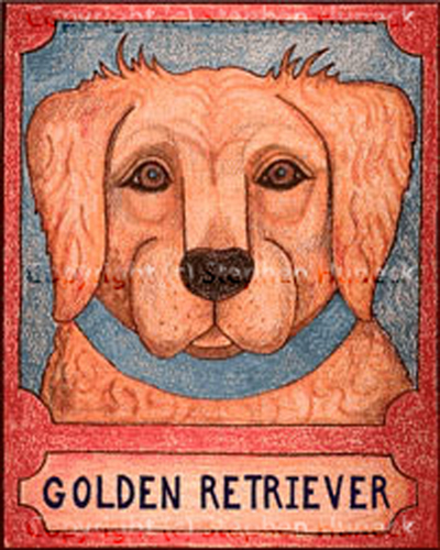 Golden Retriever - Crayon Giclee