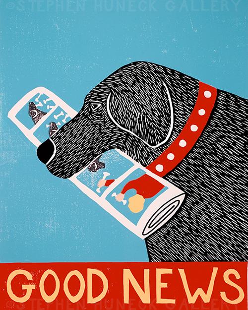 Good News - Original Woodcut