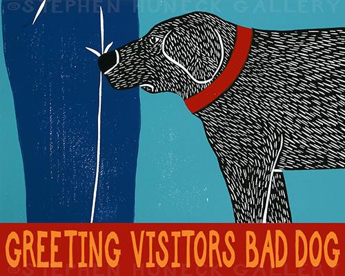 Greeting Visitors-Bad Dog - Giclee Print