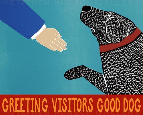 Greeting Visitors-Good Dog - Giclee Print