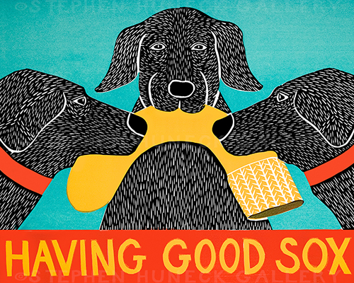 Having Good Sox - Giclee Print