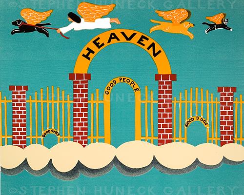 Heaven - Original Woodcut