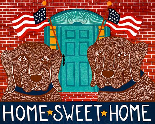 Home Sweet Home - Original Woodcut