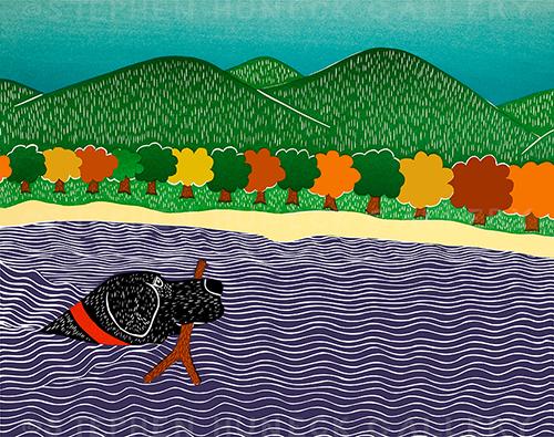 I Like Sticks-Autumn - Giclee Print