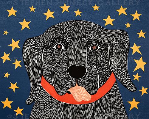 I See Stars - Original Woodcut