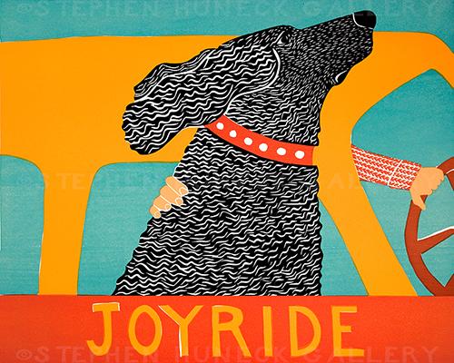 Joyride - Original Woodcut