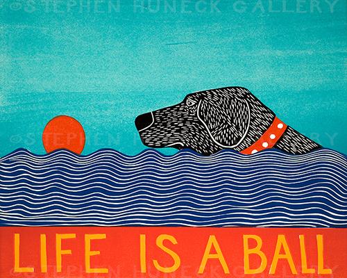 Life is a Ball - Original Woodcut