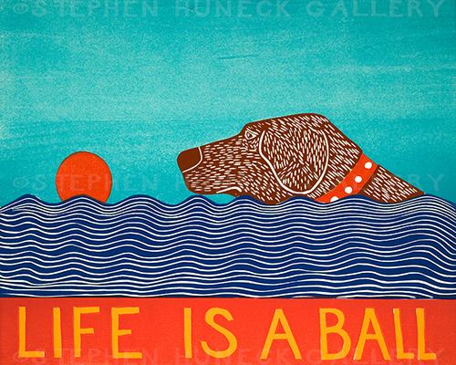 Life is a Ball - Medium Woodcut