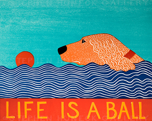 Life is a Ball-Golden - Giclee Print