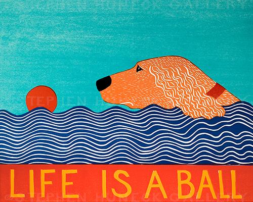 Life is a Ball-Golden - Giclee Print
