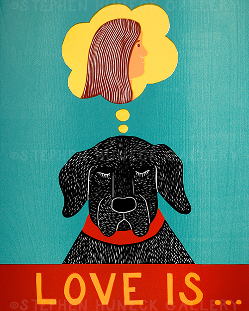 Love is... - Original Woodcut