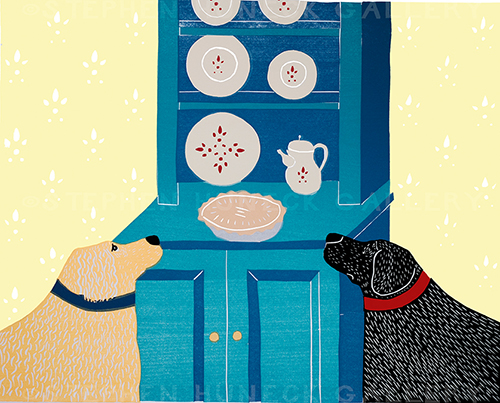 Lucky Dogs (Eye on the Pie) - Giclee Print