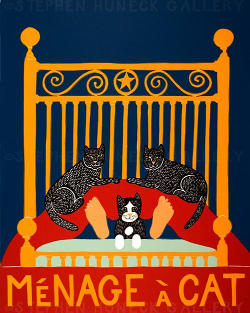 Menage a Cat - Giclee Print
