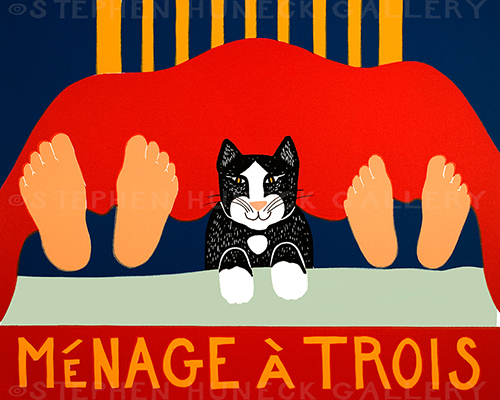 Menage a Trois-Cat - Giclee Print