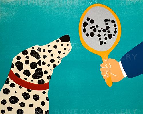 Mirror Image of Dog - Giclee Print