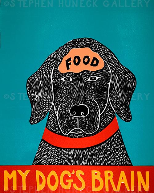 My Dog's Brain II-Food - Giclee Print