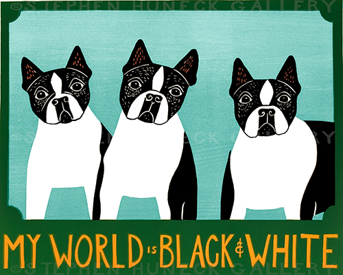 My World is Black & White - Giclee Print