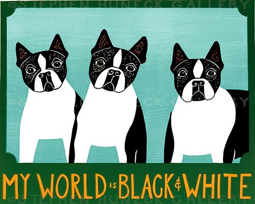 My World is Black & White - Original Woodcut