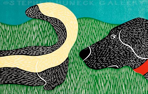Nature Walk-Bad Dog - Giclee Print